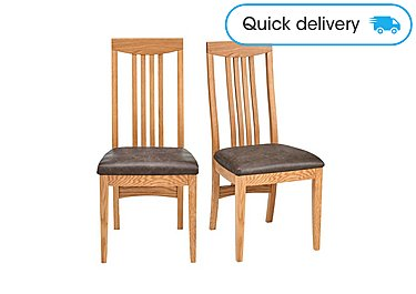 Dorset Pair Of Slatted Dining Chairs