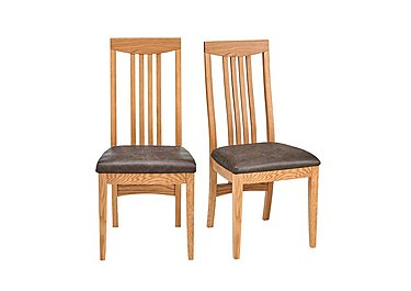 Dorset Pair of Slatted Dining Chairs in  on Furniture Village