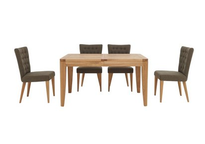 At Home Dining Chairs.Dorset Small Extending Dining Table And 4 Fabric Dining Chairs