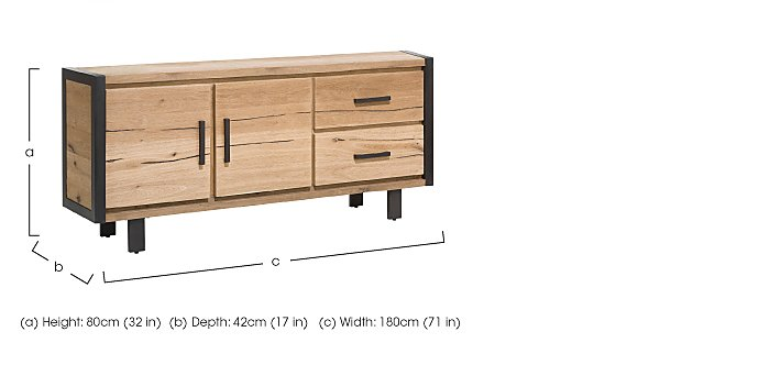 Detroit 2 Door 2 Drawer Small Sideboard in  on Furniture Village