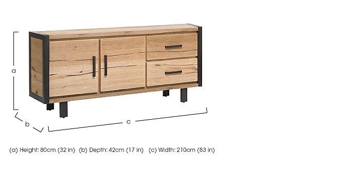 Detroit 2 Door 2 Drawer Large Sideboard in  on Furniture Village