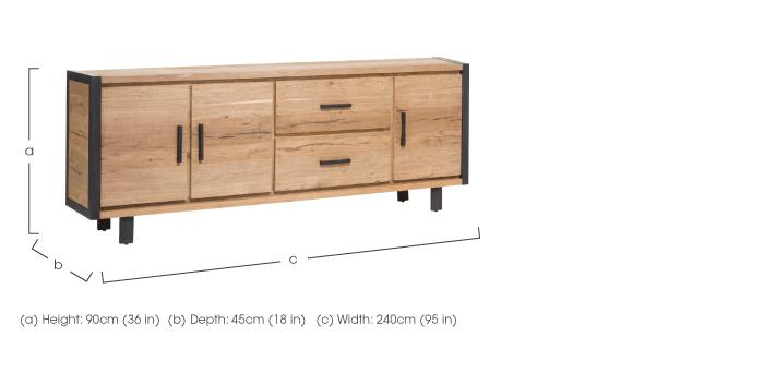 Detroit 3 Door 2 Drawer Sideboard in  on Furniture Village