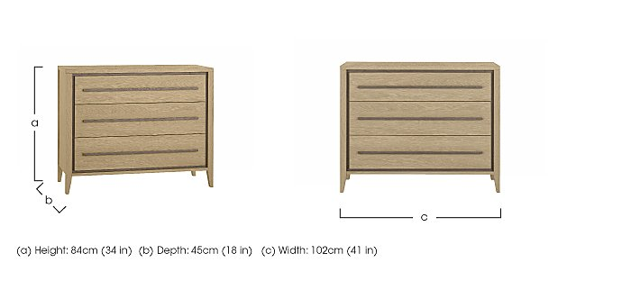 Durrell 3 Drawer Chest in  on Furniture Village