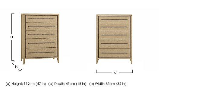 Durrell 5 Drawer Chest in  on Furniture Village