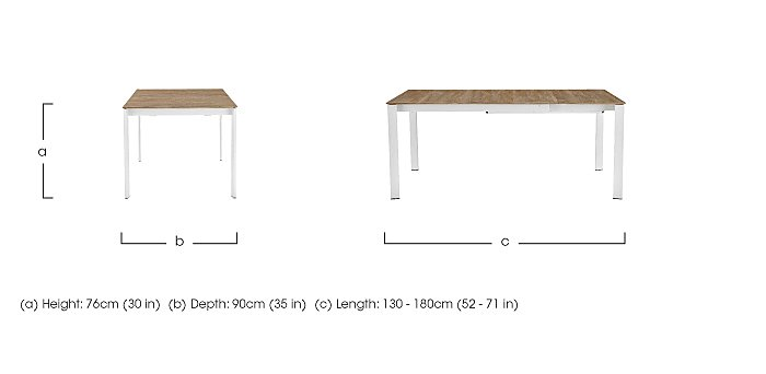 Eminence Extending Dining Table in  on Furniture Village