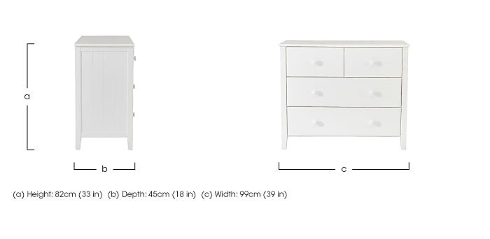 Explorer 4 Drawer Chest in  on Furniture Village