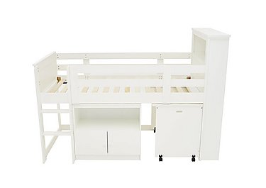The Childrens Furniture Company Explorer Mid Sleeper Bed With Desk And  Cupboard
