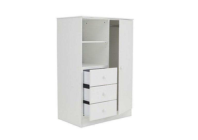 explorer wardrobe with 3 drawers shelf furniture village rh furniturevillage co uk white wardrobe with shelves and drawers