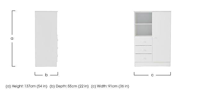 Explorer Wardrobe with 3 Drawers & Shelf in  on Furniture Village