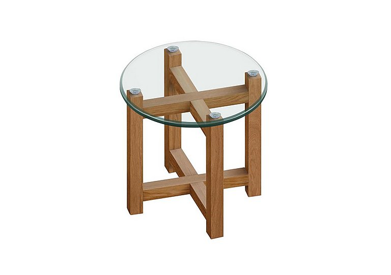 Enzo Glass Lamp Table in  on Furniture Village