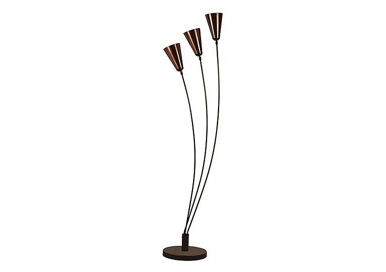 Copper Fan Floor Lamp in  on Furniture Village