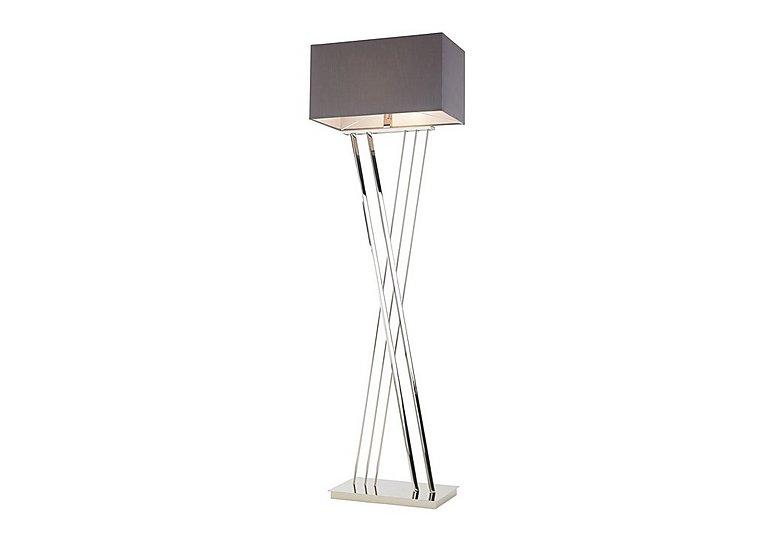 Farren Nickel Floor Lamp in  on Furniture Village