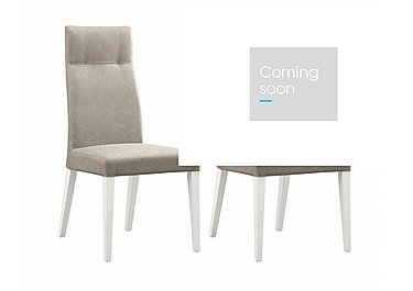 Fascino Pair of Faux Leather Dining Chairs in  on Furniture Village