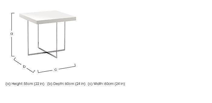 Fascino Lamp Table in  on Furniture Village