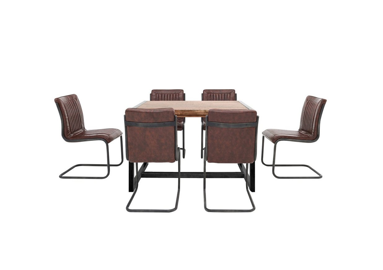 Fire Small Dining Table And 6 Chairs Furniture Village