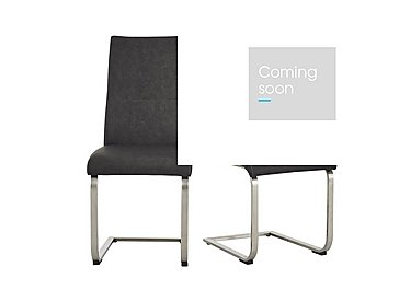 Flow Pair of Grey Faux Leather Chairs in  on Furniture Village