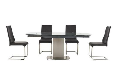 Flow Swivel Glass Dining Table With 4 Chairs Furniture Village