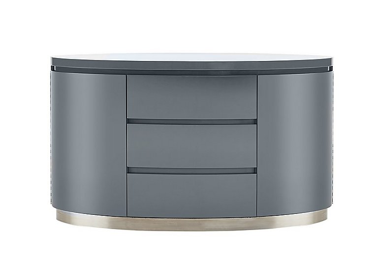 Flow Grey High Gloss Sideboard Furniture Village