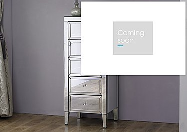 Francesca 5 Drawer Narrow Chest in  on Furniture Village
