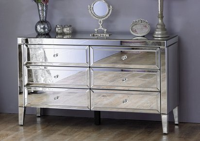 Chest Of Drawers.Francesca 6 Drawer Chest