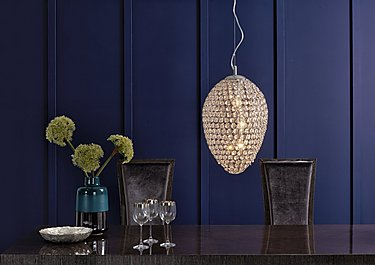 Frost 3 Light Crystal Pendant in  on Furniture Village