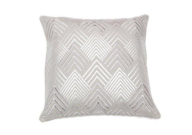 Geometric Cushion Silver in  on Furniture Village