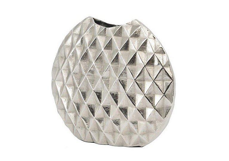 Geo Cut Aluminium Vase Small Furniture Village
