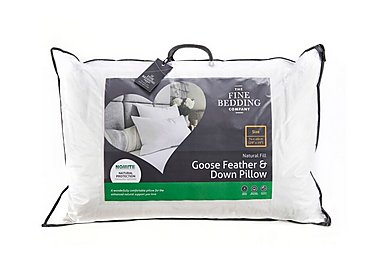 Goose Feather and Down Pillow in  on Furniture Village