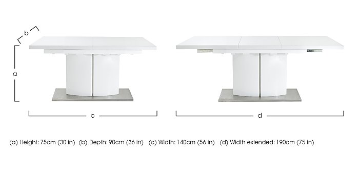 Grande small extending table furniture village for Table basse grande dimension