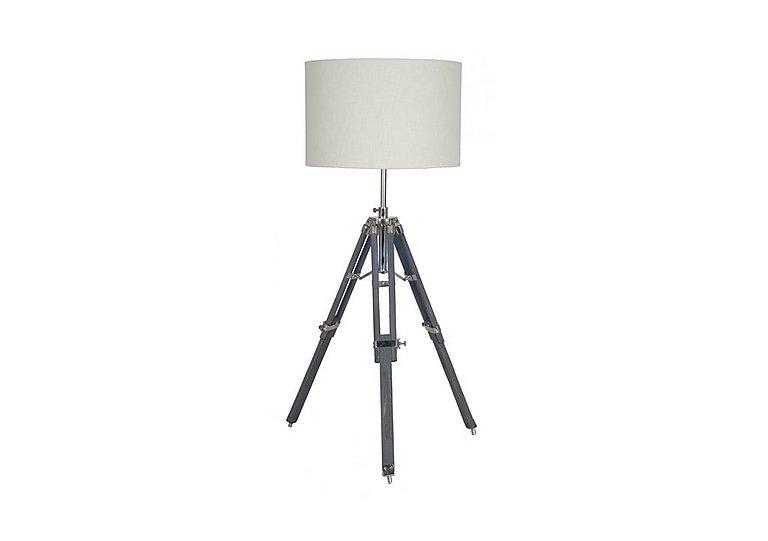 Grey Wood Tripod Table Lamp in  on Furniture Village