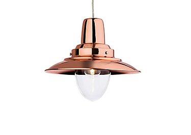 Copper Harley Pendant Light in  on Furniture Village