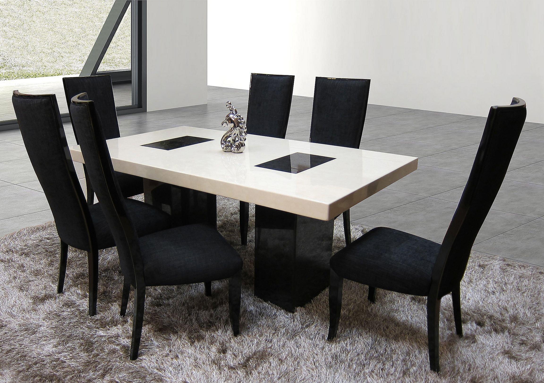 Hyatt marble dining table loading images