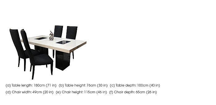 Hyatt Dining Table with 4 Upholstered Chairs in  on Furniture Village