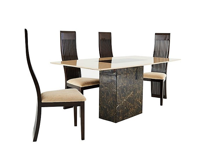 Illusion Table And 4 Slatted Chairs