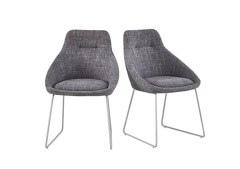 Jakob Pair of Upholstered Dining Chairs in  on Furniture Village