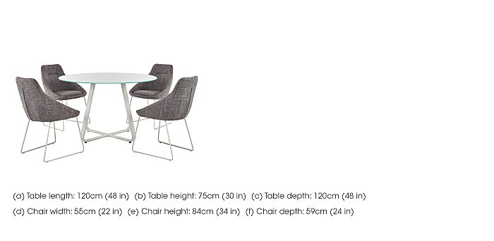 Jakob Table and 4 Upholstered Chairs in  on Furniture Village