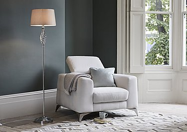 Jenna Chrome Floor Lamp in  on Furniture Village