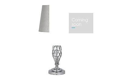 Jenna Chrome Table Lamp in  on Furniture Village