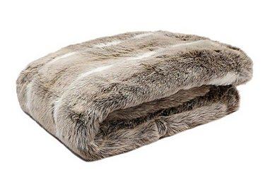 Kudo Faux Fur Blanket in  on Furniture Village