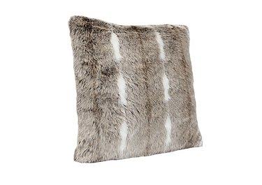 Kudo Faux Fur Cushion in  on Furniture Village