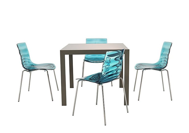 Key Extending Table with 4 L'eau Chairs in  on Furniture Village
