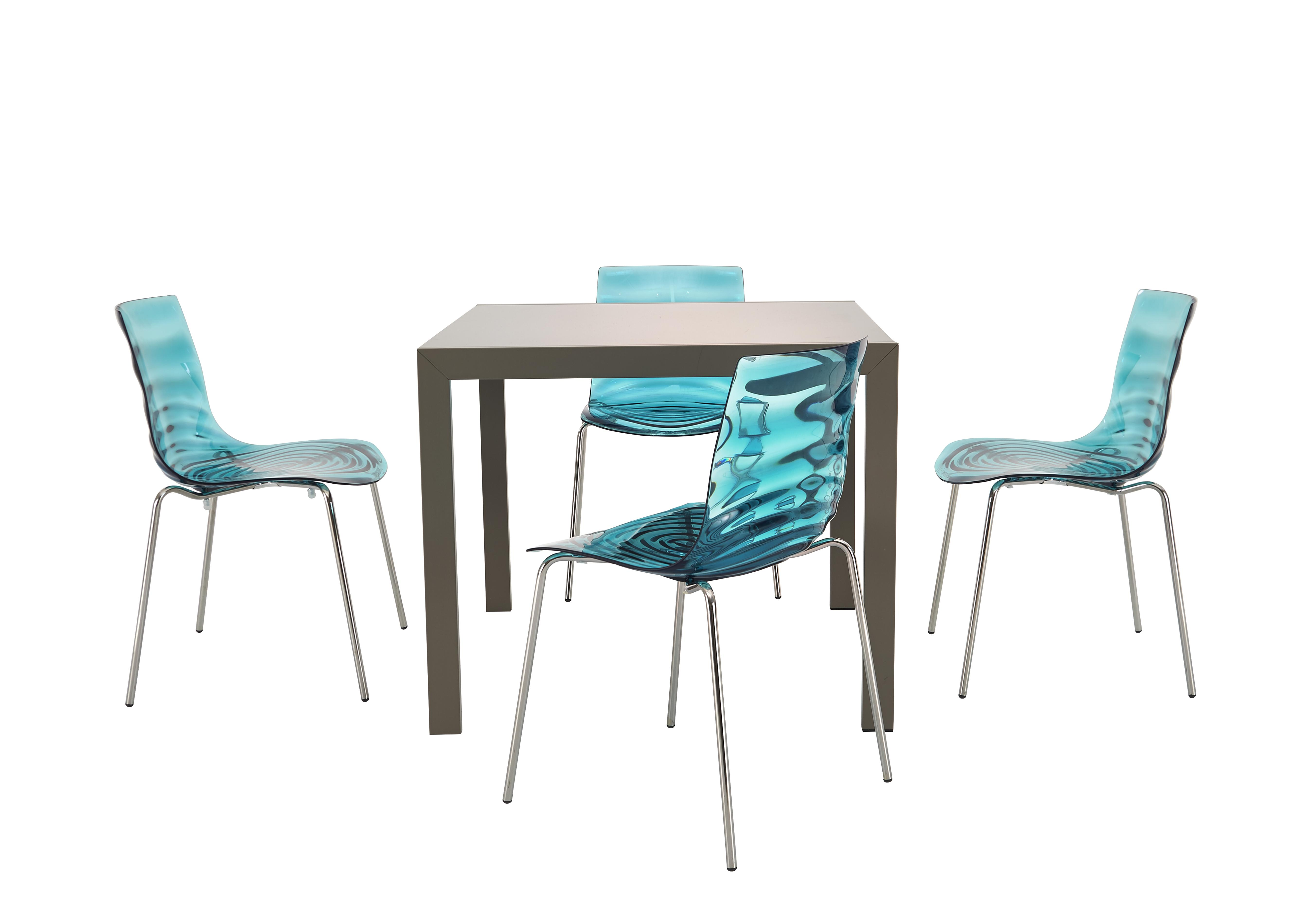 Nice Calligaris Key Extending Table With 4 Lu0027eau Chairs