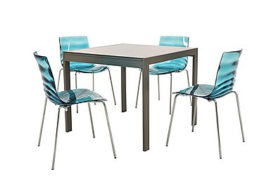 Glass dining table sets furniture village for Calligaris key table