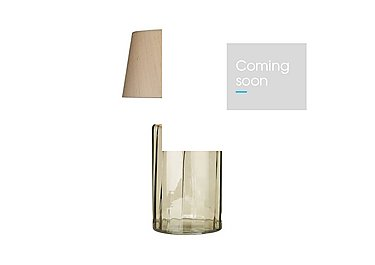 Kew Smoked Glass Table Lamp in  on Furniture Village