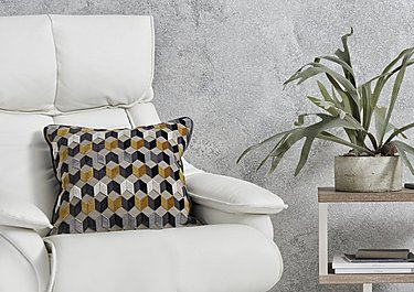 Kingsley Geometric Cushion in  on Furniture Village