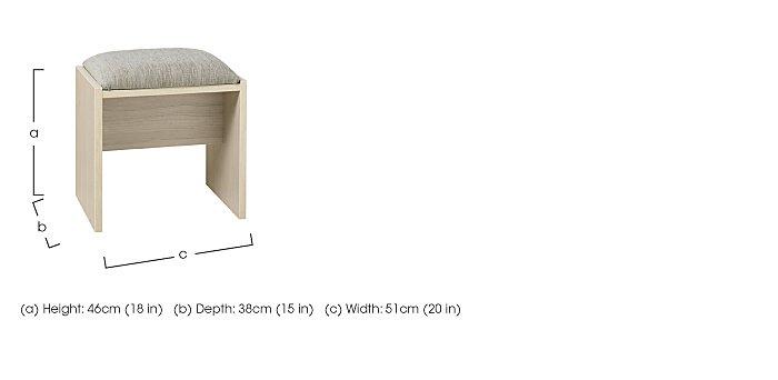 Kingsley Bedroom Stool in  on Furniture Village
