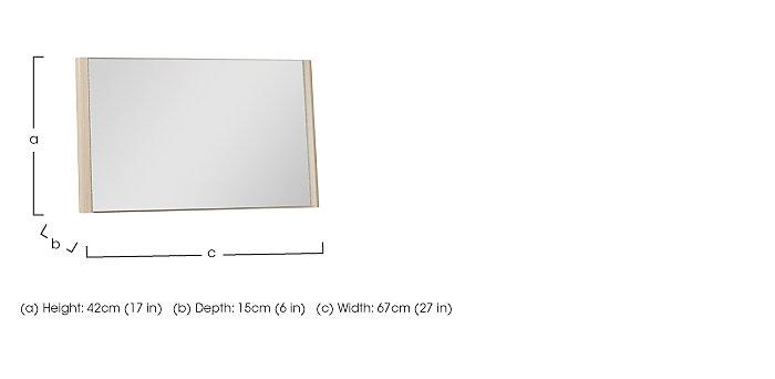 Kingsley Bedroom Mirror in  on Furniture Village