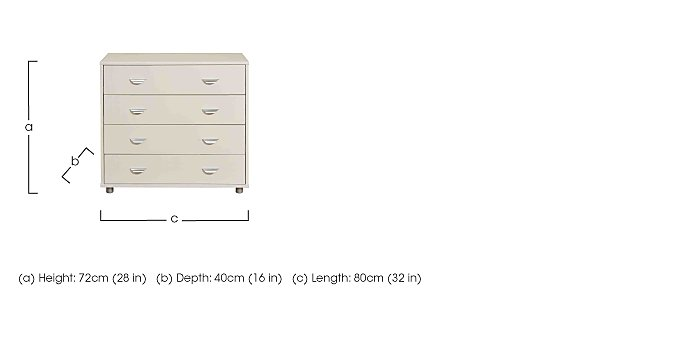 Kool 4 Drawer Chest in  on Furniture Village