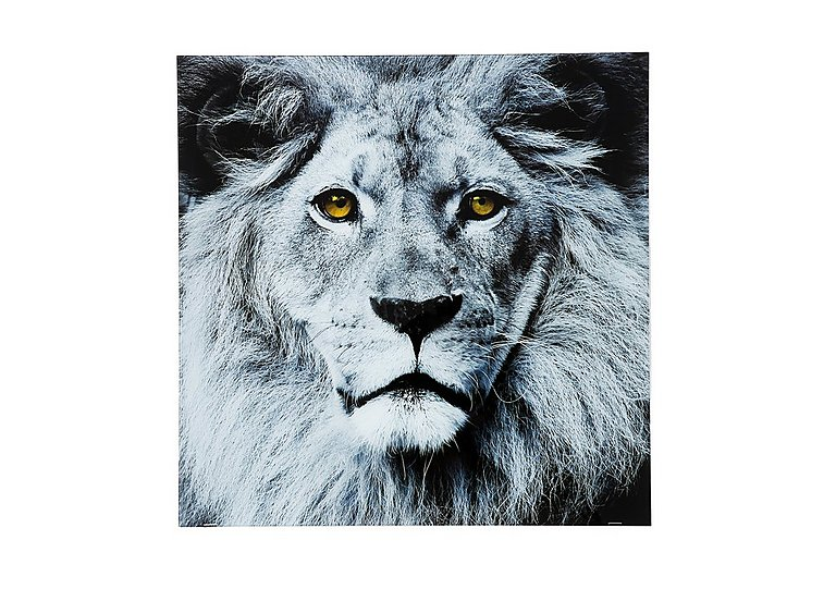 Lion Face Glass Picture Furniture Village