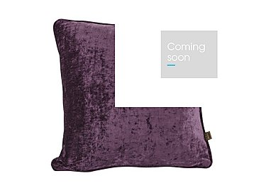 Lambada Eggplant Cushion in  on Furniture Village